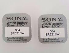 SONY 364 SR621SW BATTERY BATTERIES SILVER OXIDE WATCH COIN CELL X 2