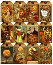Halloween Vintage Tags / Glossy Finish Card Topper
