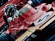 Jochen Rindt 90 x 70 cms limited edition F1 art print by Colin Carter
