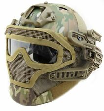 AIRSOFT G4 HELMET BUMP GOGGLES FULL FACE MESH MASK MULTICAM SWAT ABS USSF OPS