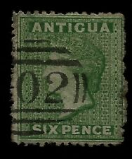 1863 British Antigua Queen Victoria Six Pence Old Stamp Guaranteed to be Genuine
