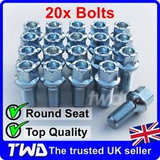20 x ALLOY WHEEL BOLTS FOR SEAT (M14x1.5) 14MM RADIUS ROUND LUG STUD NUTS [R50]