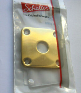 Schaller 4-Loch Jack Plate, Bent Gold Incl. Screws