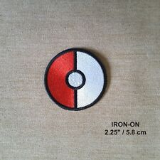 Pokeball Pokemon Embroidered Iron-on Emblem Badge Game Patch Evil Eye Applique