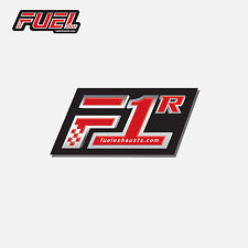 Fuel Exhausts 'F1R Race' Exhaust Badge / Label / Foil Sticker / Decal - 38x22mm