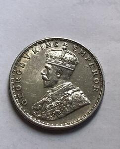 British India Silver Rupee 1913