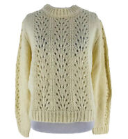 Woven Heart Women's Ivory Open Stitch Pullover Sweater Size Large NEW