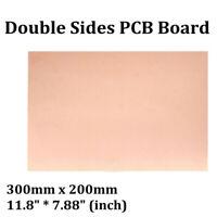 300x200mm Double-Side Copper Clad PCB FR4 Laminate Board Fiberboard Durable