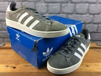 ADIDAS MENS UK 7 EU 40 2/3 CAMPUS SUEDE GREY WHITE TRAINERS RRP £75 M