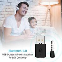 3.5mm Bluetooth 4.0 Dongle USB 5V Adapter Receiver for PS4 Controller Gamepad