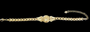 Gold Plated Virgin Mary Rose Bracelet Virgen De Guadalupe Rosa Pulsera Esclava