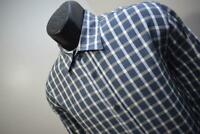 41600 Mens Bugatchi Uomo Shaped Fit Plaid Button Up Dress Shirt Size Medium
