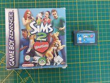 GAME BOY GAMEBOY ADVANCE GBA BOXED BOITE DE SIMS THE SIMS 2 PETS AGB-B4OX-EUR