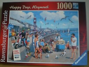 1000 PIECE JIGSAW PUZZLE. 'HAPPY DAYS, WEYMOUTH'. ALL COMPLETE