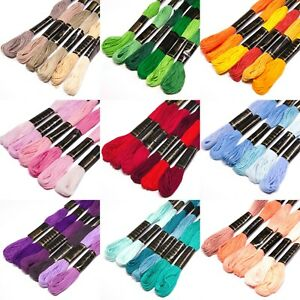 Embroidery Thread Bundles - 6 pack in Various Colour Shades
