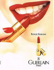 PUBLICITE ADVERTISING 084  1993  GUERLAIN  cosmétiques lèvres