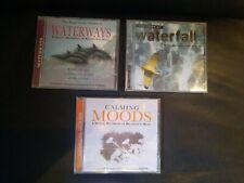 Yaskim Entspannungs CDs  3 Stück Waterways, Waterfall, Calming Moods