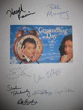 Groundhog Day Signed Script X8 Harlod Ramis Bill Murray MacDowell Elliot reprint