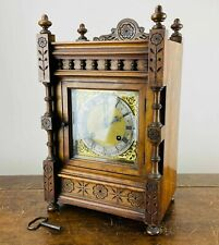 Antique Victorian Bracket Mantel Clock Gong Chiming 8 Day by W. Lockwood c1890
