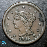 1845 Braided Hair Large Cent --  MAKE US AN OFFER!  #B3709