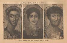 B0097 Arte Alessandrina - Xilografia d'epoca - 1901 Vintage engraving