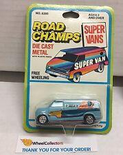 Ford Econoline Van * BLUE * Super Vans Road Champs Die Cast * E9