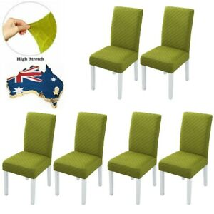Stretch Dining Chair Cover Removable Thick Seat Slipcover Banquet Furniture 6PCS
