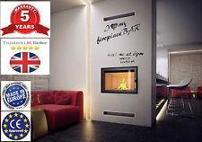 JAS Plasma style  Wood burning casette insert stove 7 kW Guarantee UK seler