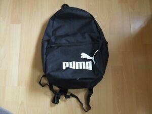PUMA SCHOOL BAG BACKPACK RUCKSACK GYM SPORT TRAINING TRAVEL WORK 22L -BLACK