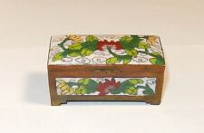 CHINESE CLOISONE WHITE ENAMEL TWO SIDED STAMP JAR BOX