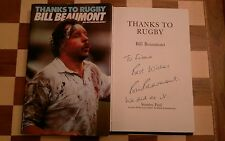 Thanks to Rugby SIGNED Bill Beaumont Autobiograpy 1982 1st edition 3rd impressio