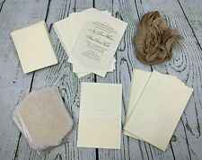 Studio His Hers Ivory 25 Wedding Invitations Envel 25 Reply Cards Envelopes