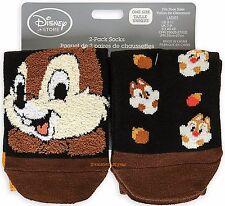 CHIP N DALE Sock Set for Women 2-Pack Disney Store USA New!