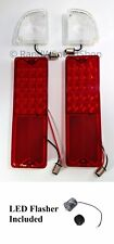 Set 67-72 Chevy GMC Truck Fleetside LED Reverse Lamps & Tail Lights Kit Flasher