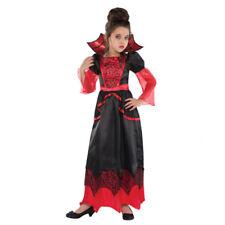 Childs Vampire Queen Halloween Fancy Dress Costume - Age 8-10 Years