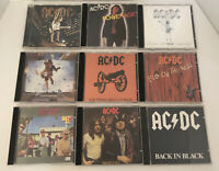 AC/DC CD LOT OF 9! highway To Hell, Back In Black, Blow Up Your Video,stiff ++++