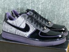finest selection 26e1f bbafc Nike Air Force 1 Low Downtown NRG Zebra Sz 12 MET Silver Purple 2012 573979-