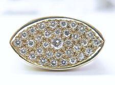 Fine Dome Shape Diamond Designer Ring Yellow Gold 1.25CT