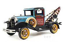 "1931 Ford Model A Tow Truck Metal Desk Car Model 17"" Automobile Automotive Decor"