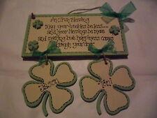 Handmade Wooden 'AN IRISH BLESSING'  - gift