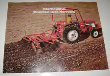 IH International 122 Disco Harrow Catálogo Ihc Tractor Montada