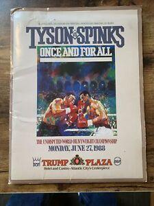 Mike Tyson vs Michael Spinks June 27, 1988 Official  Press Kit; Leroy Neiman Art