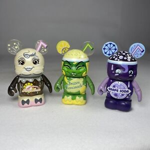 "Disney Vinylmation 3"" So Tasty Root Beer Lemonade & Grape Soda Figure Bundle x3"