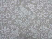 iLiv Heathland Linen Birds Rabbits Curtain Craft Upholstery Designer Fabric