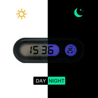 Car Auto Digital LCD Electronic Time Clock Thermometer Watch W/ Backlight 12V