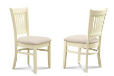 SET OF 6 DINETTE KITCHEN DINING SIDE CHAIR IN BUTTERMILK CHERRY
