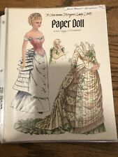 Lot- Vintage Magazine paper dolls Doll News 1991-92