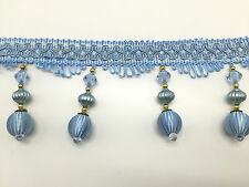 LARGE TASSEL BEADED FRINGING TRIM FOR CURTAIN CARFT WORK, 8 COLOUR AVALIBLE