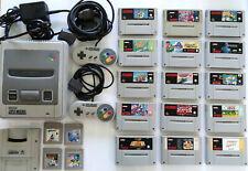 Super Nintendo SNES mit 19 Spiele, Super GameBoy, Super Mario, F-Zero, uvm...