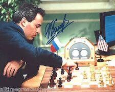 CHESS WORLD CHAMPION RUSSIAN ACTIVIST GARRY KASPAROV SIGNED 8X10 PHOTO COA PROOF
